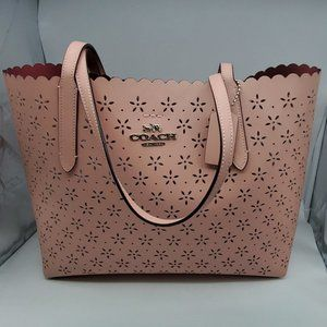 Coach Perforated Leather Avenue Tote F39894 Pink